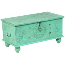 Leelo Coffee Table Trunk, Mint, CAR-TR-M