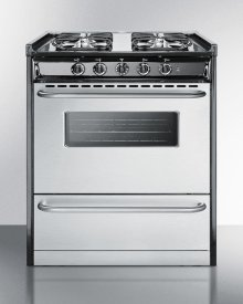 """Slide-in Gas Range In 30"""" Width, With Stainless Steel Doors and Four Sealed Burners; Replaces Tnm230r"""