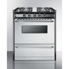 "Slide-in Gas Range In 30"" Width, With Stainless Steel Doors and Four Sealed Burners; Replaces Tnm230r"