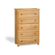 Atlantic 5 Drawer 48 inch Chest in Natural Maple