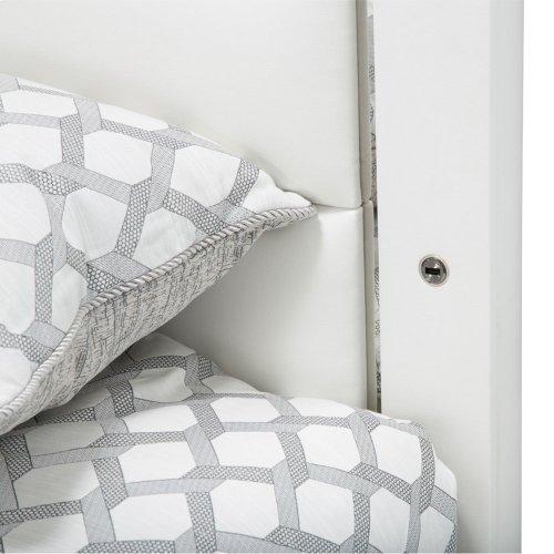 Eastern King Upholstered Panel Bed