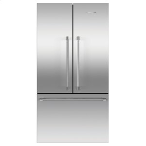 "Fisher & PaykelFreestanding French Door Refrigerator Freezer, 36"", 20.1 cu ft, Ice"