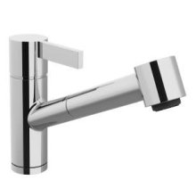 Single-lever mixer with pull-out spout with spray function - chrome