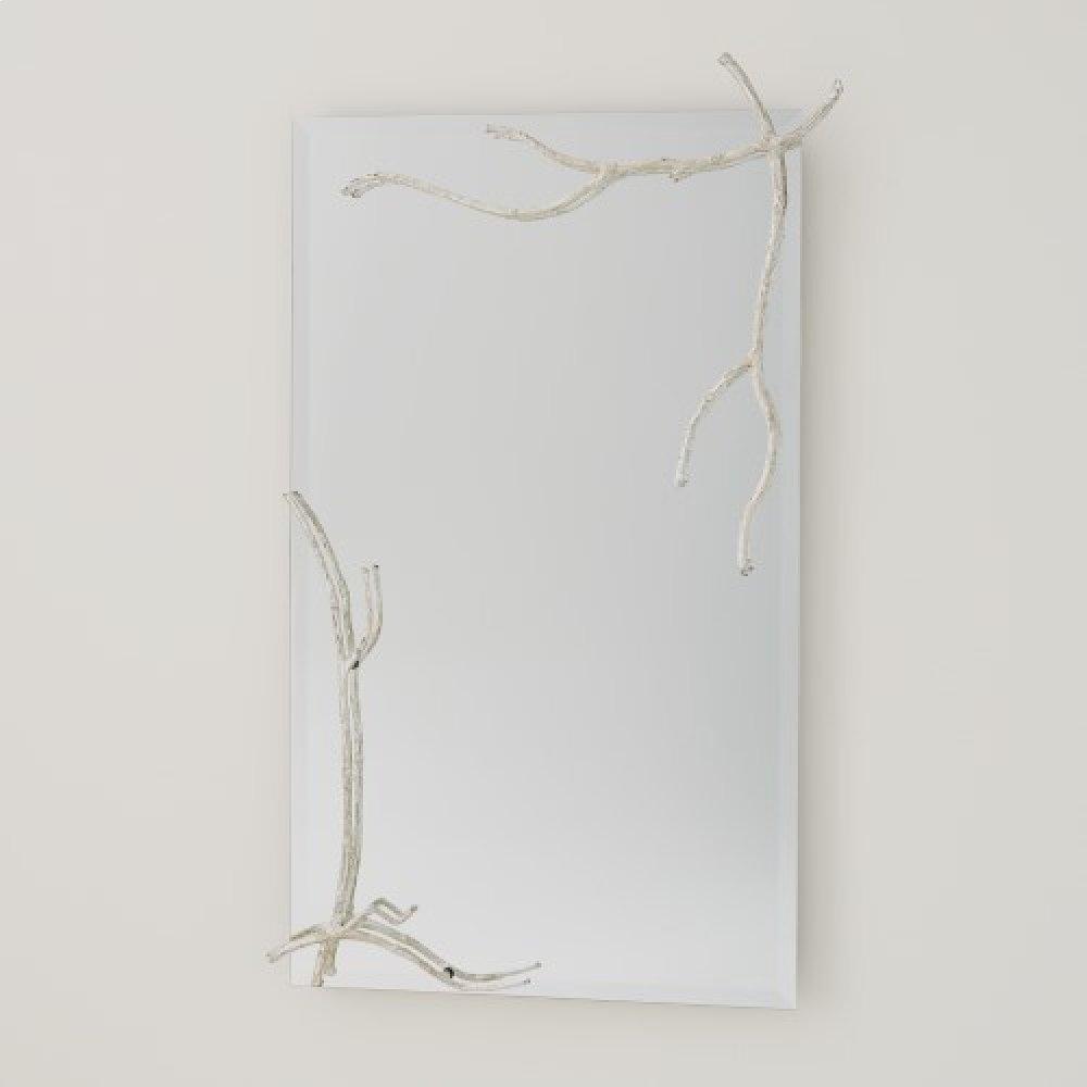 Twig Mirror-Silver Leaf-Lg