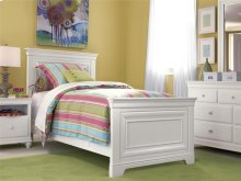 Twin Panel Bed - Summer White