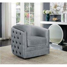 Modern Grey Swivel Accent Chair