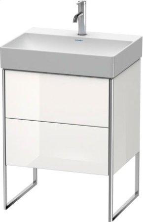 Vanity Unit Floorstanding, White High Gloss Lacquer
