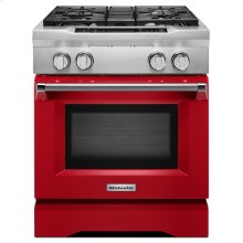 30'' 4-Burner Dual Fuel Freestanding Range, Commercial-Style - Signature Red (OPEN BOX CLOSEOUT)