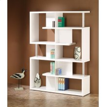 Transitional White Bookcase