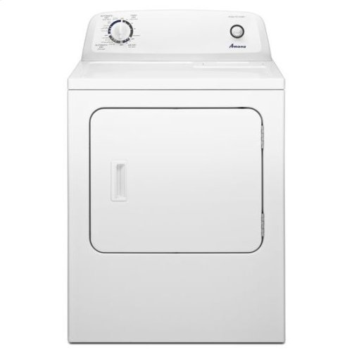 6.5 cu. ft. Top Load Gas Dryer with Automatic Dryness Control - white