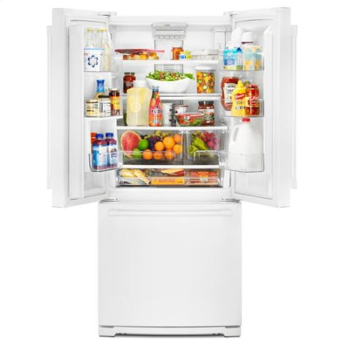 Maytag® 30-Inch Wide French Door Refrigerator - 20 Cu. Ft. - White