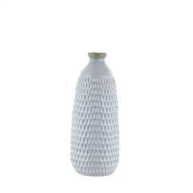 "Ceramic Organic Scalloped Vase, 16.25"" Gray"