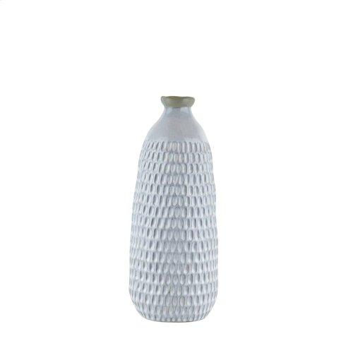 "Ceramic Organic Dimpled Vase, 16.25"" Gray"