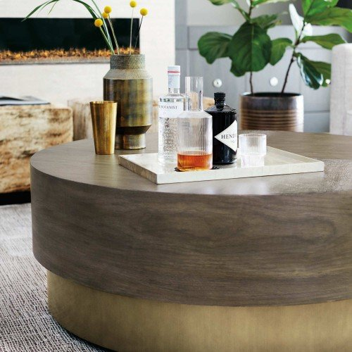 Profile Round Cocktail Table in Profile Warm Taupe (378)