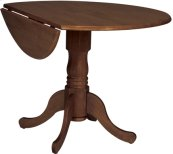 "42"" Complete Drop Leaf Table Espresso"
