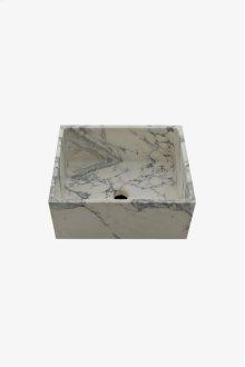 "R.W. Atlas 16"" x 13 1/16"" x 7 1/16"" Stone Apron Bar Sink with Center Drain STYLE: RWSK51"