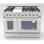 "NXRNXR 48"" Professional Range with Six Burners, Griddle, Convection Oven, Propane Gas (DRGB4801-LP)"