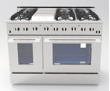 """NXR 48"""" Professional Range with Six Burners, Griddle, Convection Oven, Natural Gas (DRGB4801)"""