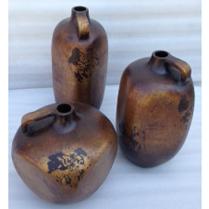Antiqued Copper Finish: Square Jars ( set of 3)