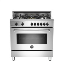 Stainless 36 5-Burner, Electric Self-Clean Oven