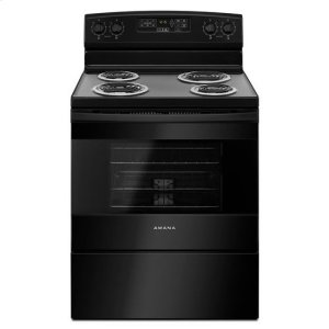 Amana30-inch Electric Range with Self-Clean Option - black