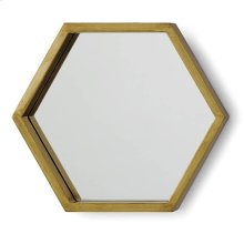 Bee Hive Mirror Set In Gold Leaf (set of 5)