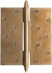 Silicon Bronze-Butt Hinge With Steeple Finial Cap