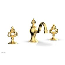 COURONNE Widespread Faucet Cross Handles 163-01 - Satin Gold