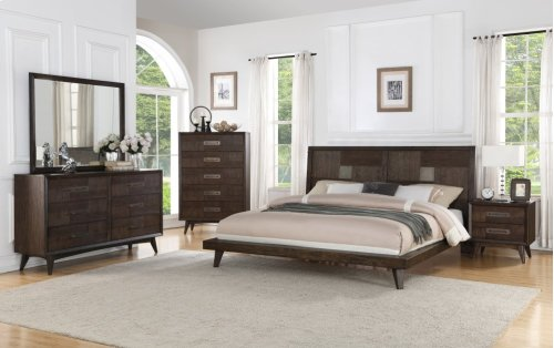 Emerald Home Millennium 6-piece Bedroom Set Weathered Oak B218-10-6pcset1-k