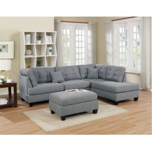 F6581 / Cat.19.p8- 3PCS SECTIONAL GREY