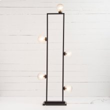 Antiqued Iron Finish Clara Floor Lamp