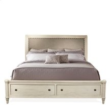 Huntleigh Queen/King Sleigh Bed Rails Vintage White finish