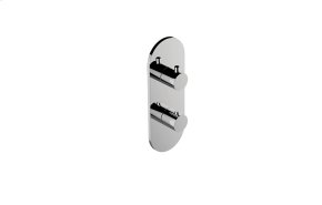 M-Series Round Thermostatic 2-Hole Trim Plate and Handle