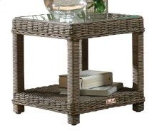 Exuma End Table w/glass