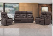 Easy Living Bonn 3 Piece Reclining Living Room Set with USB