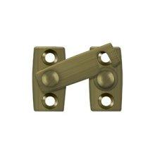 """Shutter Bar/Door Latch 1 1/8"""" - Antique Brass"""