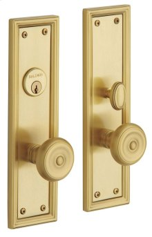 Satin Brass and Brown Nashville Entrance Trim