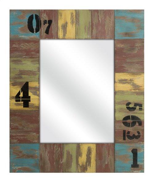 Bandcroft Distressed Wood Mirror