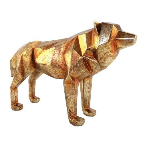 Cubist Wolf Gold