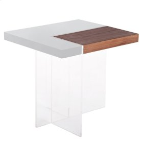 Astra End Table, Gray/Walnut