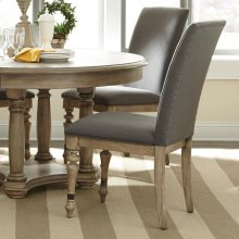 Corinne - Upholstered Side Chair - Sun-drenched Acacia Finish
