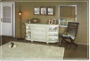 3 Drawers w/ 6 Shelves Console Ivory finish Product Image