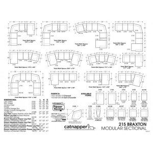 Power Headrest/Lay Flat LSF Recliner w/Extended Ottoman