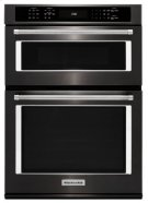 """27"""" Combination Wall Oven with Even-Heat™ True Convection (lower oven) - Black Stainless Product Image"""