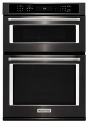 "27"" Combination Wall Oven with Even-Heat True Convection (lower oven) - Black Stainless Product Image"