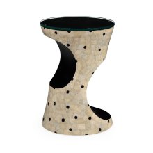 Dalmatian Eggshell Round Cut-Out Lamp Table