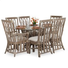 Rattan 7PC Dining Set in Weather Grey