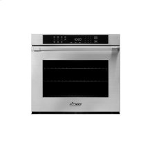 """Heritage 30"""" Single Wall Oven in Black Glass - ships with Epicure Style black handle."""
