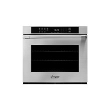 """Heritage 30"""" Single Wall Oven in Black Glass - ships with stainless steel Pro Style handle."""