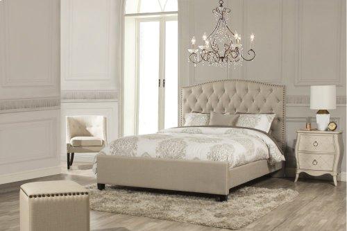 Lila King Bed - Sandstone Linen